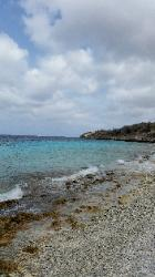 Scenic View of Northern Bonaire Island - 1000 Steps Beach