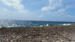 Scenic View of Eastern Bonaire Island - Coast of Washukemba