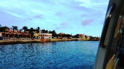 Scenic Views from Klein Bonaire & Bonaire Shores - A View of Capital Kralendijk Downtown from Shores of Scenic Boanire