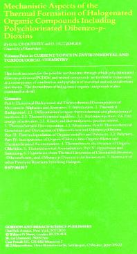 Book: Thermal Formation of Dioxins by Dr. G.G. Choudhry