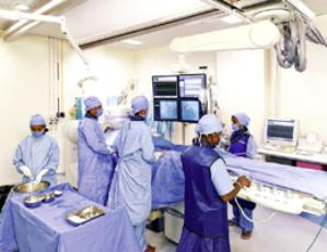 GE Digital Cardiac Cath Lab at MIOT Hospitals in Chennai, Tamil Nadu, India, affiliated to International University School of Medicine (IUSOM), which also has a Branch Campus, namely, IUSOM - Michigan Clinical Campus in Dearborn, Michigan, USA