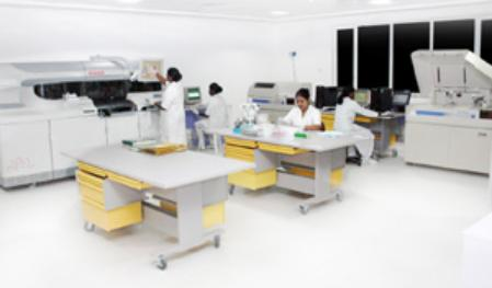Diagnostic Laboratory at MIOT Hospitals in Chennai, Tamil Nadu, India, affiliated to International University School of Medicine (IUSOM), which also has a Branch Campus, namely, IUSOM - Michigan Clinical Campus in Dearborn, Michigan, USA