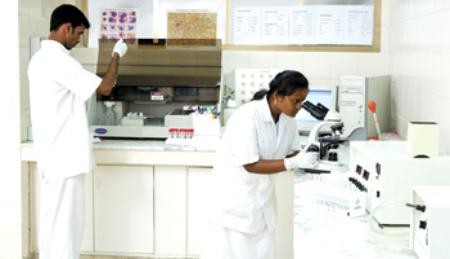 Diabetology Lab at MIOT Hospitals in Chennai, Tamil Nadu, India, affiliated to International University School of Medicine (IUSOM), which also has a Branch Campus, namely, IUSOM - Michigan Clinical Campus in Dearborn, Michigan, USA